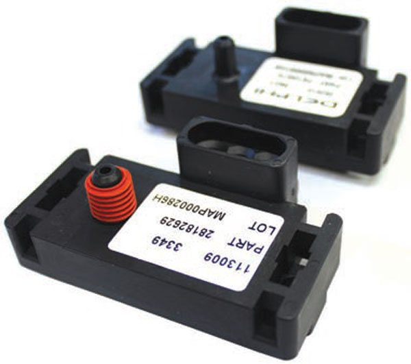 The remote-mount MAP sensor is mounted directly to the LT1 and Ram Jet 502 intake manifold using a rubber seal (GM# 1635948). This rubber seal may also be used with 2- and 3-bar remote-mount MAP sensors. Other applications do not require this seal, as a vacuum hose may be installed between the MAP sensor and a fitting on the intake manifold.