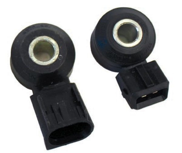 The two-wire, flat-response knock sensor was used with the GM# 12200411 PCM and 2001–2002 4.3L V-6 engines. For SBC, LT1, BBC, and 4.3L V-6 installations where flat-response sensors are desirable, a mounting stud can be installed in the coolant drain hole. Gen IV LS-series engines accept the flat-response sensors on the sides of the engine block.