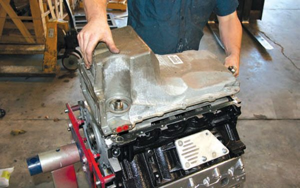 Early Vortec oil pans fit many vehicles, but the deep rear sump can be problematic due to lack of ground clearance. Most trucks accept this pan with ease. (Photo Courtesy Street & Performance)