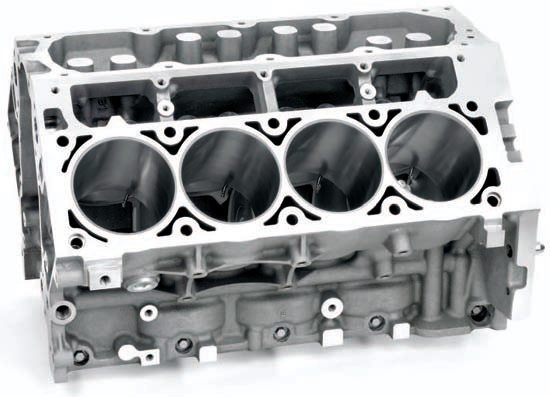 The LSA block (used in the supercharged Cadillac CTS-V and Camaro ZL1 models) is an excellent stop-gap between the LS9 and the L92/LS3. It boasts piston oil squirters and other improvements without the more costly measures.