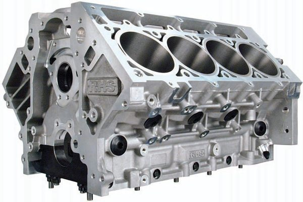 The RHS LS Race Block was the last to be developed, so it should come as no surprise that it boasts the most features of any of the cast variants. It has increased access to lifters (yes, you can actually remove them with the heads on), .500-inch-thick deck, longer sleeves, six head bolts, provisions for dry sump lubrication, cam tunnel that supports a 60-mm roller bearing, and several different machining and finishing options. Perhaps best of all, though, is the raised cam tunnel on the tall-deck block. Many other large camshafts have clearance issues with longer-stroke crankshafts, so this makes big cubic inches possible in a race application.