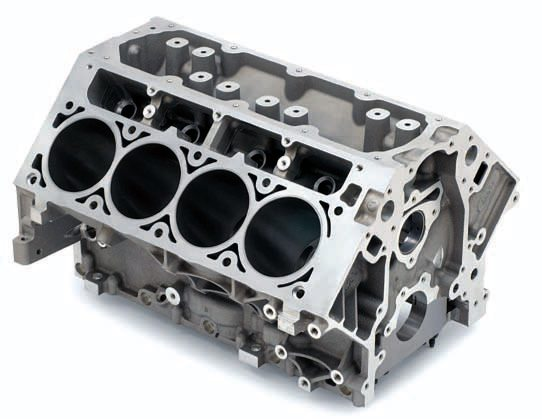 The L92 and LS3 block was the next evolution in Gen IV block design, bridging the gap in bore size between the previous 4.00-inch LS2 and the 4.065-inch LS7. The larger bore gave even more clearance for the massive valves in the L92/LS3 heads. GM later decided that the L92 heads would in fact work quite well on the 6.0 block, as they did for the L76 and truck engines. Thick cylinders allow up to a 4.085-inch bore.