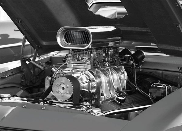 """Most enthusiasts and hot rodders were introduced to street supercharging with the large, """"Jimmy""""-style Roots superchargers that originated on large truck and bus GMC diesel engines, but were adapted to automotive powerplants. Although impressive looking and sounding, these blowers are pretty inefficient, but they're guaranteed to draw a crowd on cruise night."""
