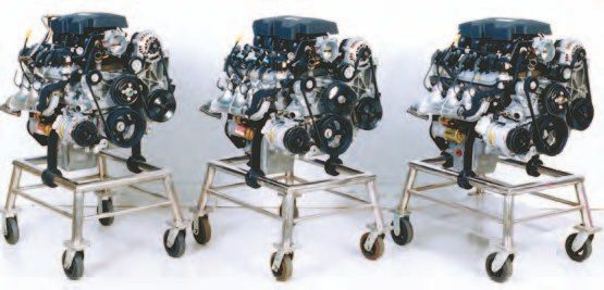 "The original 6.0- liter Vortec LQ4 (right) originally came with iron heads and an iron block. After 2001, all Vortec 300- and 345-hp 6.0-liter LQ4 and LQ9 engines switched to aluminum heads. The LQ Gen III engines have a strong following for their strength and ability to handle considerably more power than they made in stock form. The 4.8- (left) and 5.3-liter (middle) Gen III V-8 engines provide solid power, but most hot-rodders go for the 6.0-liter because of the ""when in doubt, punch it out"" rule of thumb. More cubes mean more power."