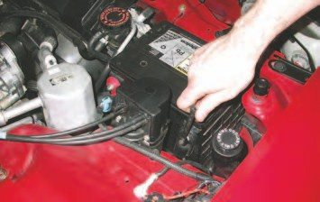 2. As a rule of thumb, whenever working on a vehicle, disconnect the battery cables to prevent stray sparks or voltage from damaging the electronic equipment or starting a fire.