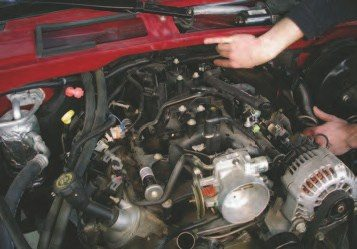 26. The reason this method will save you time and effort is because you're not taking out any components you don't have to. When you remove any wiring connectors from the vehicle, place as much as you can on top of the engine to minimize the chances of it being damaged when the engine is removed.
