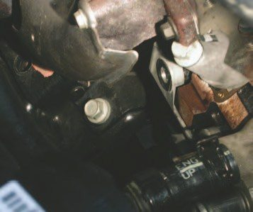 44. There are three 15-mm engine mount bolts on each side of the engine that you need to remove before you can pull the engine from the vehicle.