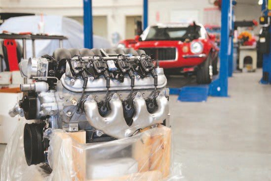 This LS engine was installed in Mary Pozzi's second-generation Camaro. (Photo Courtesy Mary Pozzi)