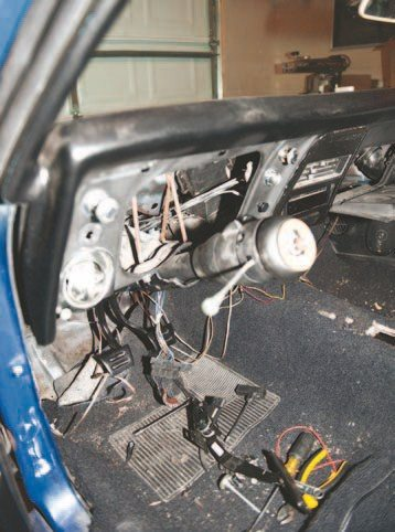 For this complete build, I stripped all the wiring and started over with an American Autowire 18-circuit kit. This kit is specifically made for the first-generation F-Body and it adds blade-style fuses, replacing the old barrel style. It also adds a lot of extra slots for accessories such as a banging stereo or even a power converter.