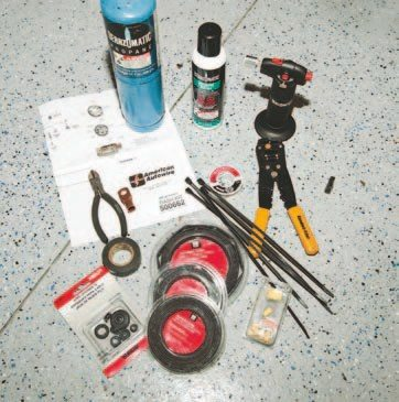 You need an array of tools and hardware to help you in the wiring process. Some shrink tape, wire cutters, and a wire stripper are required to make the necessary electrical connections and complete your wiring job.