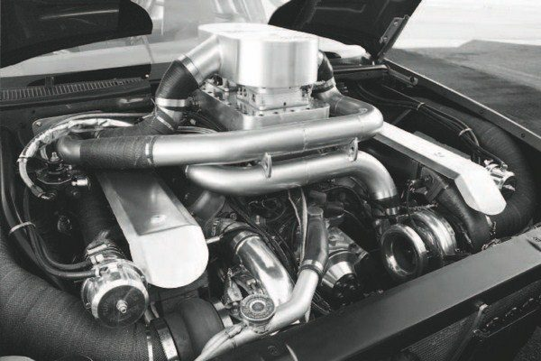 Perhaps the ultimate demonstration of forced-induction LS power is the twinturbocharged 1996 Impala SS built by GM Performance Parts. Its 400-ci LSX iron-block engine produces more than 2,000 hp, with help from a pair of 88-mm turbos. (See Chapter 9 for a complete look at the engine, including the components and dyno testing.)