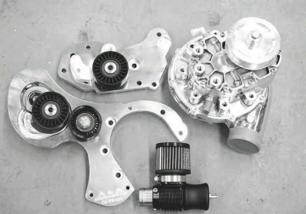 Vortech centrifugal superchargers typically make 6 to 8 pounds of boost in most bolt-on kits, but a range of higher-performing, racing-oriented compressors can supply more than 30 pounds of boost. Most of Vortech's compressors are interchangeable with the company's brackets, allowing you to swap compressors to better suit your engine combination. (See Chapter 5 for installation details on a Vortech-based bolt-on system.)