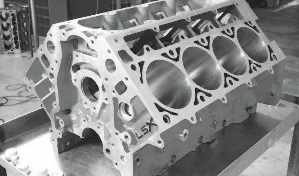 Most significantly, the LSX block includes two additional head-bolt locations per cylinder (for a total of six) that greatly enhance clamping strength to prevent head-gasket blowouts under high boost. Street/ strip engines with up to about 15 to 19 pounds of boost will likely survive with conventional, four-bolt blocks, but if the engine is projected to use 20 pounds (or more) of boost, a six-bolt block is highly recommended. A second-generation LSX block was introduced in 2009 that offered several design and machining improvements, but retains the original PN. A firstgeneration block is shown here.