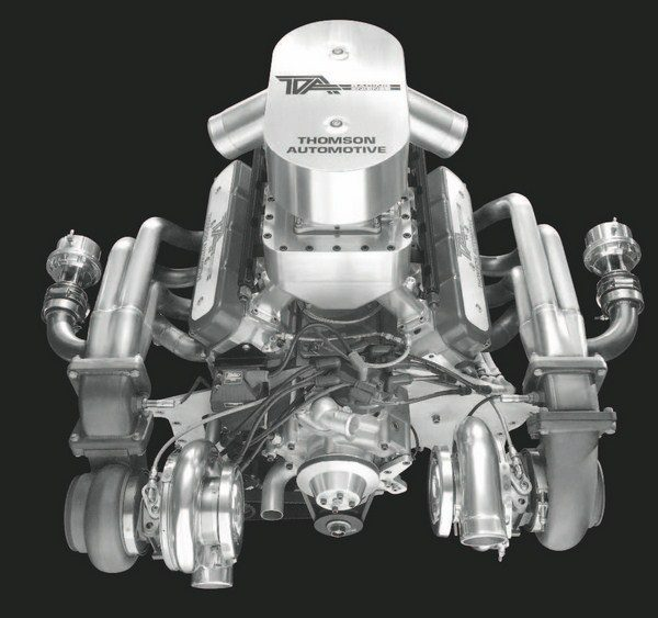 Based on the LSX cylinder block and using a smaller, 400-inch displacement, this Thomson Automotive-built twin-turbo engine consistently delivers more than 2,000 earth-shaking horsepower—with nearly 30 pounds of boost.