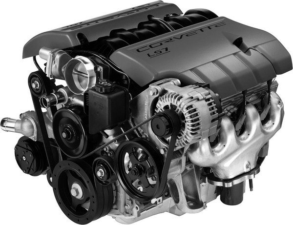 Stroking a motor for extra displacement is hardly a novel concept. There are more than two dozen variants of the LS-series smallblock, which are offered in a dizzying array of bore-and-stroke combinations. To create the massive 427-ci LS7, GM increased the LS1's bore from 3.900 to 4.125 inches and lengthened the stroke from 3.622 to 4.000 inches. (© GM Corp.)