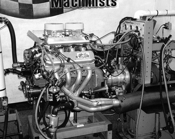 Big displacement and high RPM needn't be an either/or proposition. Built by SAM, this otherworldly 429-ci combo includes a GM Performance Parts LSX block, a monstrous 278/302-at- .050 solid roller cam, a custom sheet metal intake manifold, a 15.5:1 compression ratio, and ported C5R heads that flow 410 cfm. Its epic 1,002 hp peaks at 9,000 rpm, and the 434 revs to a jaw-dropping 9,600 rpm. In a 3,500-pound 1999 Camaro, the 434 powers the car to 8.52-second quarter-mile times at nearly 160 mph.