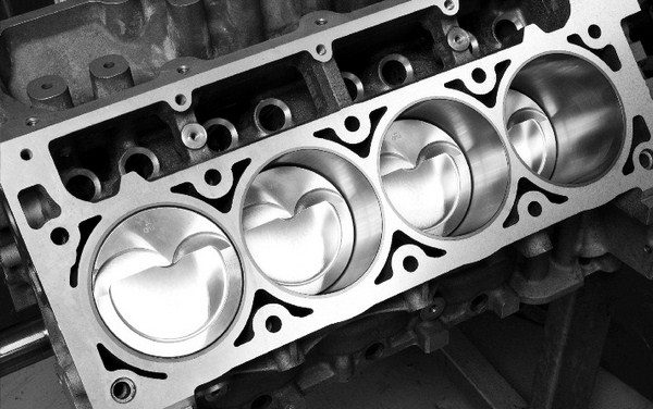 Bore spacing is the distance from the center of one cylinder to the center of an adjacent cylinder. This and the cylinder wall thickness determine the maximum bore diameter that a block can accommodate. Like the Gen I small-block, the LS-series engine features a bore spacing of 4.400 inches.