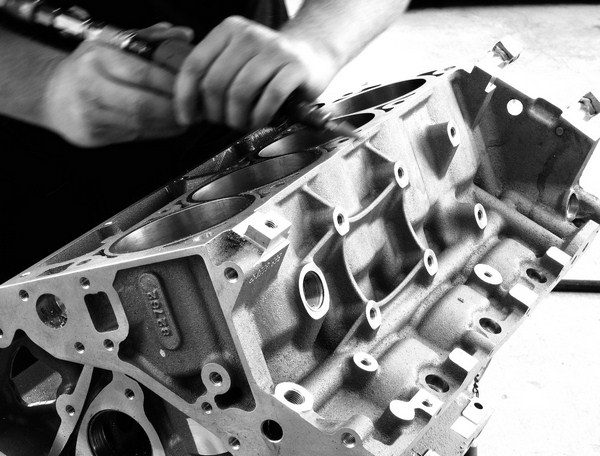 De-burring the sharp edges of a block isn't a mandatory step for most street engines, but it does stressrelieve parts of the block to help prevent the formation of cracks. Fewer sharp edges also means fewer cuts and scrapes on your hands.