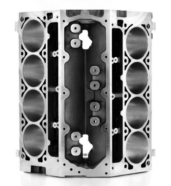 For a big-inch aluminum stroker combo, it's tough to beat the value of the 4.000- inch-bore LS2 block and the 4.065-inchbore 6.2L block. Both can accommodate well over 400 ci, and their big bores make them compatible with the latest deepbreathing factory and aftermarket cylinder heads. The LS2 sells for $1,000 through GMPP, and the 6.2L block is listed at $1,400. (© GM Corp.)