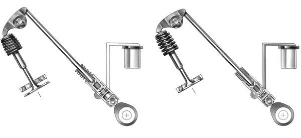 lifter assembly used in DOD engines consists of a twopiece body where the inner portion of the lifter slides inside the outer portion. During normal operation, a spring-loaded pin locks the inner body in place. When DOD is activated (left), solenoids mounted in the LOMA unlock the pin via oil pressure, and the force of the valvespring causes the inner portion of the lifter to collapse. Once DOD and oil pressure from the solenoids is deactivated (right), springs on the top and bottom of the lifter's inner sleeve push it back up, and the springloaded pin locks it back in place. It is possible to swap cams in DOD motors, as long as valve lift is limited to .550 inch. To install a bigger cam, DOD can be eliminated entirely with an LS2 lifter-valley cover and standard LS lifters. (© GM Corp.)