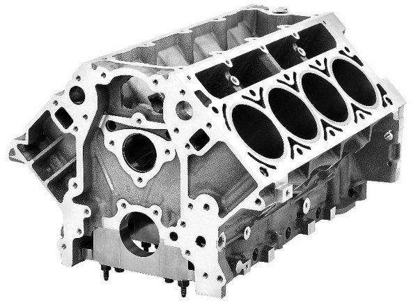 In the LS family, the Vortec 5.3L aluminum block is often considered the least desirable block for a stroker. It works just fine in the stock vehicles for which it was designed, but its thin cylinder sleeves and tiny bore diameter make it a poor choice as a foundation for a stroker motor. (© GM Corp.)
