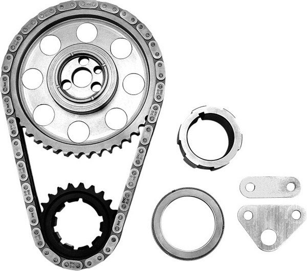 Adjustable timing sets allow altering the installed centerline of a camshaft, thereby advancing or retarding the valve events in relation to crankshaft rotation. Comp Cams' adjustable billet timing set has nine keyway slots in the crank gear for up to 8 degrees of latitude. (Photo courtesy of Comp Cams)