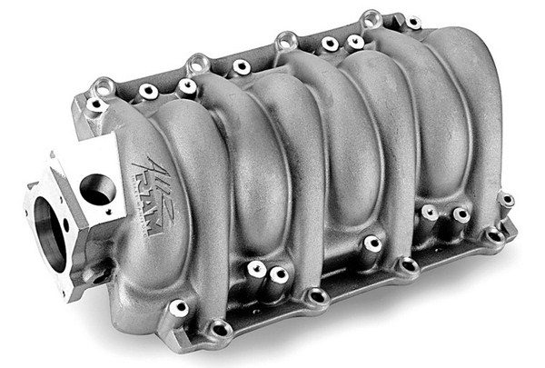 The Weiand Air Ram intake manifold features a removable bottom panel for access to the runners and extra-thick walls for porting. According to the manufacturer, it's good for 25 hp over a stock intake.
