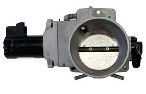 The GM truck throttle body looks much like the 1997–2004 Corvette throttle body but with the TPS and throttle shaft motor on opposite sides. The truck and Corvette share the same throttle shaft motor (which is not serviceable separately) but with opposing polarity. The blade on this throttle body measures approximate 75 mm in diameter.