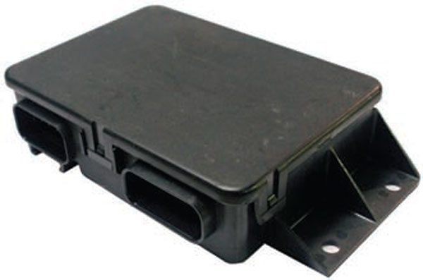 This is the 1999–2002 GM truck TAC module. It looks identical to the 1997–2004 Corvette TAC module but it is not interchangeable with other electronic throttle systems.