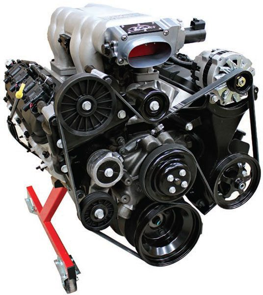This Ram Jet 502 engine receives much more air with this mono blade electronic throttle body. With an LS1 Corvette- based electronic throttle system and PCM, this engine has much more to offer than it did with the bundled MEFI (marine electronic fuel injection) ECU and 48-mm cable throttle body. This mono-blade throttle body flows approximately 1,250 cfm and is a good choice for engines making more than 600 hp.