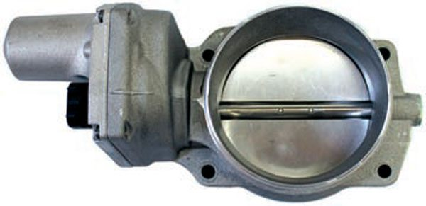 The LS2 and early LS3 Corvette throttle body is an electronically compatible alternative to the smaller LS1 throttle body. The blade on this throttle body measures approximately 90 mm in diameter. Because the bore is larger and the four-bolt pattern is different than the three-bolt pattern of the LS1 intake manifold, the use of this throttle body requires a different intake manifold or adapter plate.