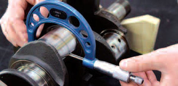 Some cranks will have problems that go beyond what can simply be inspected with the naked eye. Out-of-round or tapered crankshaft journals will create uneven running clearances in an operational engine. GM recommendations are that out-of-round cannot exceed 0.0003 inch for main journals or 0.0004 for rod journals. Similarly, acceptable taper (change in journal diameter) across the width of the journal is well under a thousandth. Fortunately, journal grinding and/or polishing can help bring journal shape within spec, but there is only so much that can be done with severely damaged or out-of-shape journals. Your machine shop will have the final say as to whether a crank with such issues will need to be replaced.