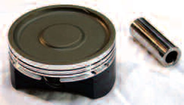 Dished pistons like this one made by Diamond increase total chamber volume, thereby lowering compression ratio for supercharged and turbocharged applications. As a side note here, always buy pistons and pins as a matched set and purchase the recommended pin locking rings for floating-style pins (if they're not included). This will prevent any fitment problems and help curb the possibility of pins coming loose during engine operation—a real possibility with incorrect length pins and/or the wrong locking rings.