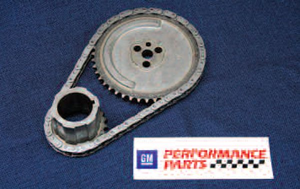 Though early Gen III timing sets lacked some strength, later factory LS timing sets are quite robust, backward-compatible, and inexpensive. You can grab a stock-replacement chain and sprockets like this one from GMPP. Theoretically, it's possible to replace just the chain (hence their being sold separately), but this is a bad idea because the teeth on the sprockets wear out, too.