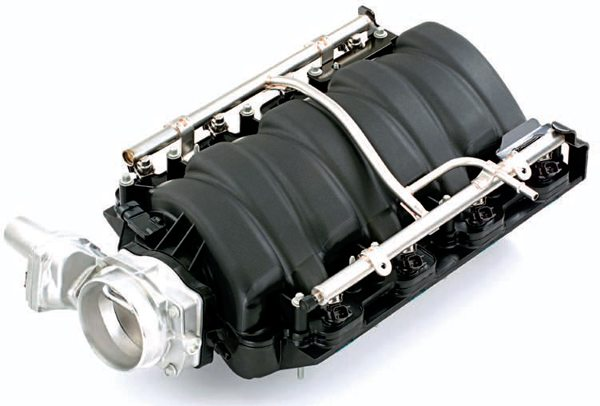 Just like the L76, the LS7 intake comes fully assembled with throttle body, fuel rails, and injectors. It is a well-designed piece that keeps up with aftermarket cams, ported stock heads, and big cubic inches. However, if you are looking to spin 7,500 rpm or more, use a tall-deck block for 480-plus-ci, or simply add boost, you should consider other alternatives.