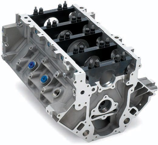 The C5R was the first aftermarket block, which was developed for the Corvette Racing program. It boasted an unheard of 4.125-inch bore and sleeves long enough to handle a 4-inch stroke with no sacrifice of durability. Drag racers willing to shell out big bucks have been using this tried-and-true piece of aluminum for decades. A Siamese bore, billet main caps, and dry sump oiling provisions are just a few of its features.