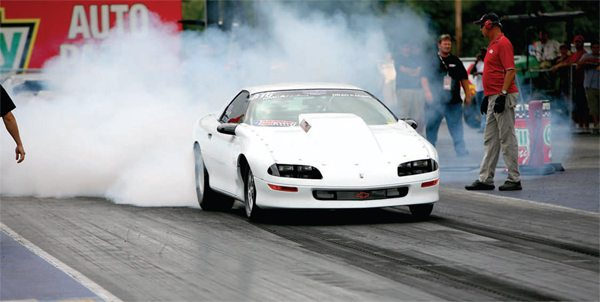 Jim Filipowski is one of several drivers with a very fast car running the LSX block in drag race competition. Jim's 1993 Camaro (aka White Lightning) has run as fast 7.65 at 199 mph with a 101-mm turbo. For class reasons, Filipowski uses a 3.90-inch stroke to stay just under 400 ci with a carburetor and All Pro heads to top it off.