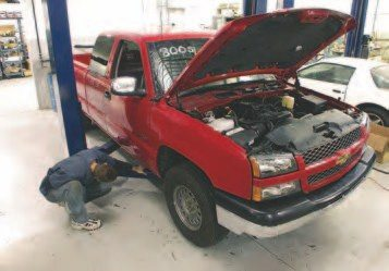 The first step is not a requirement, but it will make your life much easier. Put the truck on a lift. If you don't have a lift, just plan on sliding underneath the vehicle to pull the starter, torque converter bolts, trans bolts, and a few other things. Disconnect the battery at this time.