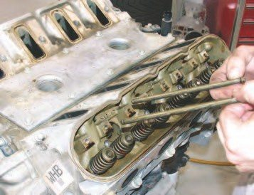 11. Now you can remove each of the pushrods. If there is one part that always needs to be upgraded for performance applications in the Gen III, it's the pushrods. Buy good replacements and sleep easier.