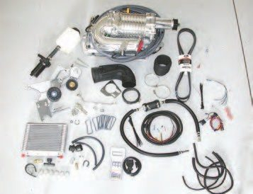 The MagnaCharger kit comes with all the components required to install the supercharger and get the engine running with it — including the new calibration flashed into the PCM with a downloader pod. Plus, the whole setup is emissions legal.