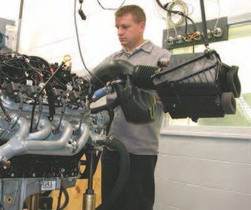 14. All the 6.0-liter dyno testing was performed with shorty headers flowing into a substitute exhaust system, a stock inlet air cleaner system, and premium pump gas.