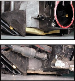"If the intake is mounted on an engine, the best way to determine whether you are looking at an LS6-style intake is by looking between the valley plate and the bottom of the intake. The intake with the ""wing""-shaped floor on the top is an LS1 intake, the intake with the flat floor on the bottom is an LS6 intake. As a tip, all 2001 and later LS-engines came with the LS6- style intake."