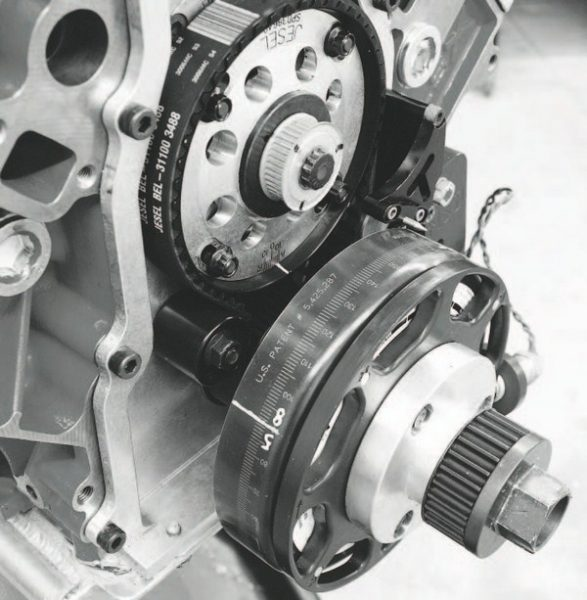 The LSX iron cylinder block can be machined for a Jesel belt-drive timing-belt system.