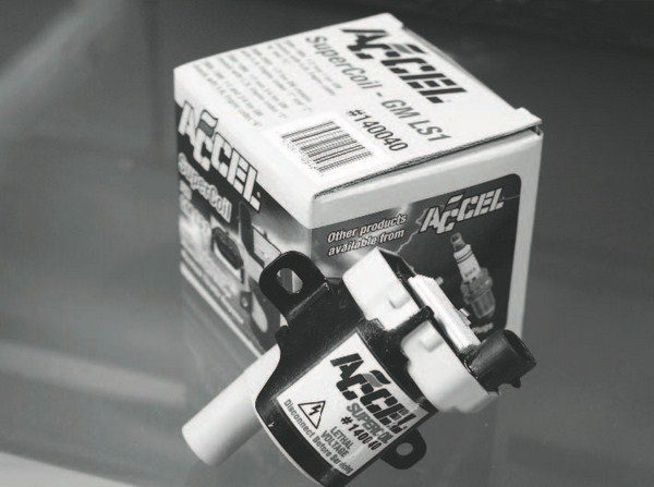 ACCEL is another source for hotterthan- stock ignition coils. The greater energy helps the flame of the spark withstand boost pressure that wants to blow it out, much like blowing out a match.