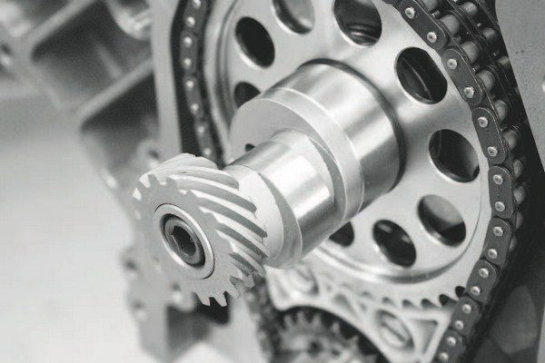 Bullet Racing Cams supplied the .714/.721-inch-lift, 266/268-degree roller camshaft. The lobe separation angle is 113 degrees. The specs are consistent with the airflow needs of a forced-induction engine, as the relatively wide lobe-separation angle promotes greater power at higher RPM, where boost can start to fall off. Because this engine uses a frontmounted distributor rather than the typical LS crank trigger, the camshaft required the addition of a distributor drive gear and fuel-pump lobe. It's available from GM Performance Parts in a kit that also includes the distributor mounting bracket. The PN is 88958679.