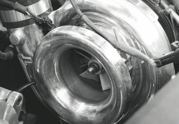 Two of these mid-sized, 88-mm HP-88 turbochargers from Turbonetics are used on the engine. Each features ceramic ball bearings for greater wear and heat resistance, as well as Turbonetics' 3.50-inch turbine wheel. Alone, each turbo supports about 1,200 hp, but when used in pairs, the sky's the limit.