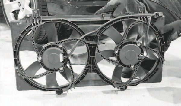 "Generally speaking, the factory electric cooling fans and radiator of most LS-powered vehicles are adequate for most bolt-on blower and turbo kits of low- to moderate-boost levels. However, the variable fan controller found on LS3-powered C6 Corvettes is a popular conversion for those factory fan systems, as it allows the fan speed to be ""tuned"" through the engine controller software to optimize the speed."