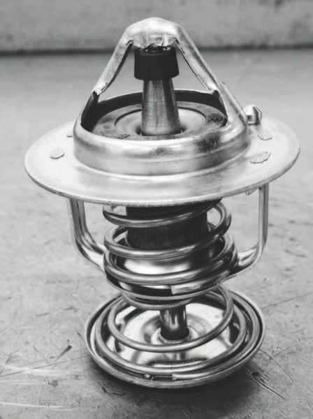 A replacement thermostat that opens at a lower temperature than the stock unit helps reduce overall engine temperature, which is very desirable with forced induction in order to stave off detonation. This SLP Performance Parts thermostat for LS1 and LS6 engines, for example, opens at 160 degrees rather than the stock part's 195-degree threshold.