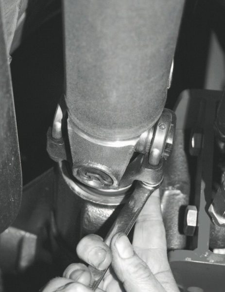 Because the housings of the stock axle and the S60 were different lengths, a new, shorter driveshaft was required. A custom metal-matrix shaft was ordered and installed.