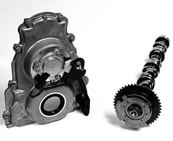 GM's VVT system uses surprisingly few VVT-specific parts. All you need to retrofit VVT onto any Gen III or IV small-block is a timing cover, a phaser assembly, a 58-tooth reluctor wheel, and an oilcontrol valve from an L92/L99, all of which can be purchased for well under $300. Other requirements include a VVT-specific camshaft and a computer from a factoryequipped VVT car that has the necessary programming tables to control the phaser assembly. A VVT retrofit is quite justifiable if you're building an LS motor from scratch to drop into a muscle car, since most of the retrofit-specific hardware is stuff you'd have to buy anyway.
